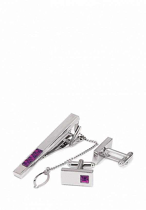 Комплект зажим для галстука и запонки Greg Greg MP002XM0W6G4 запонки greg greg mp002xm24n69