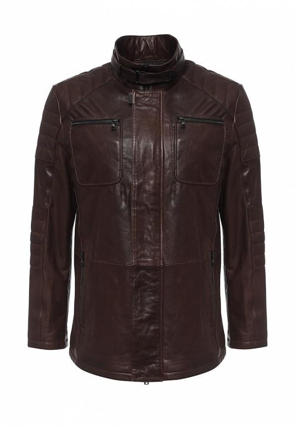 Куртка кожаная Mondial. Цвет: коричневый