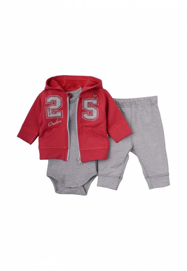Комплект боди, брюки и толстовка Фламинго текстиль