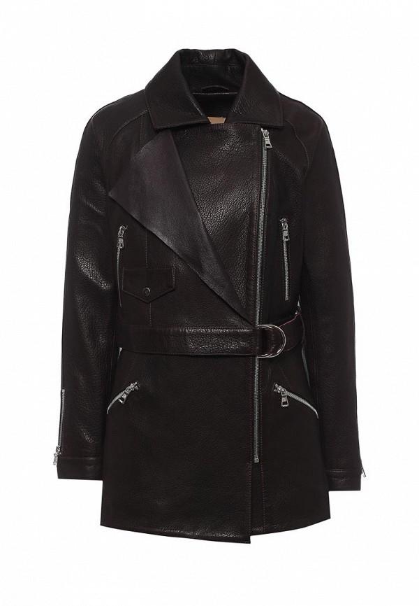 Куртка кожаная Mondial. Цвет: бордовый