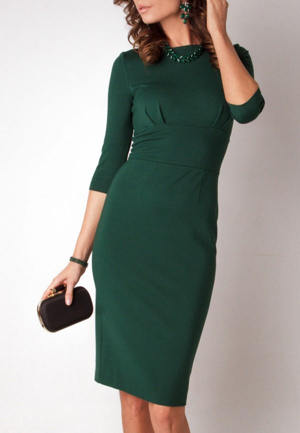 Фото зеленого трикотажного платья