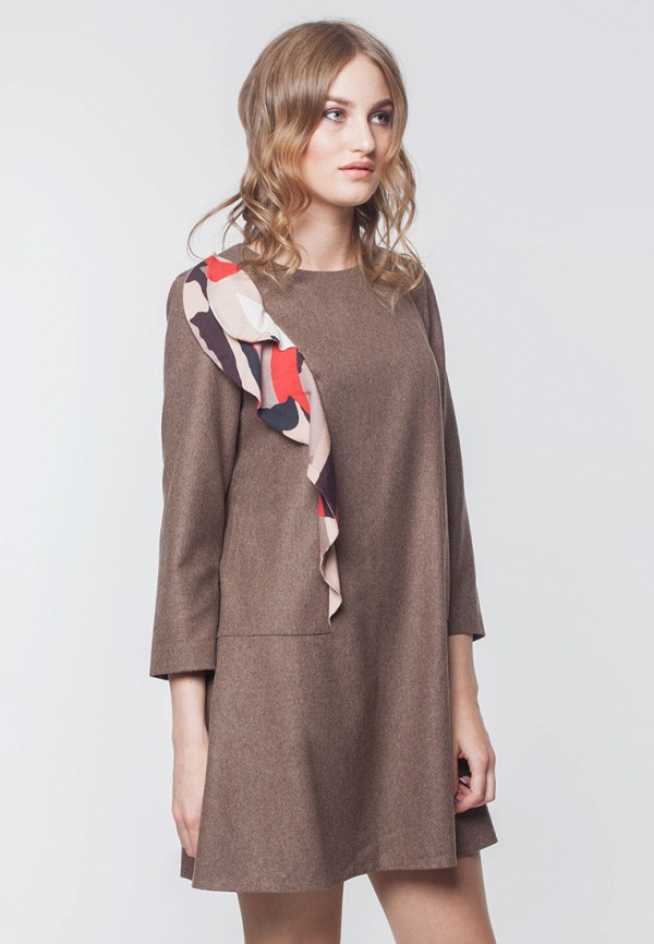 Купить Платье EMI, MP002XW0DJJS, коричневый, Осень-зима 2017/2018