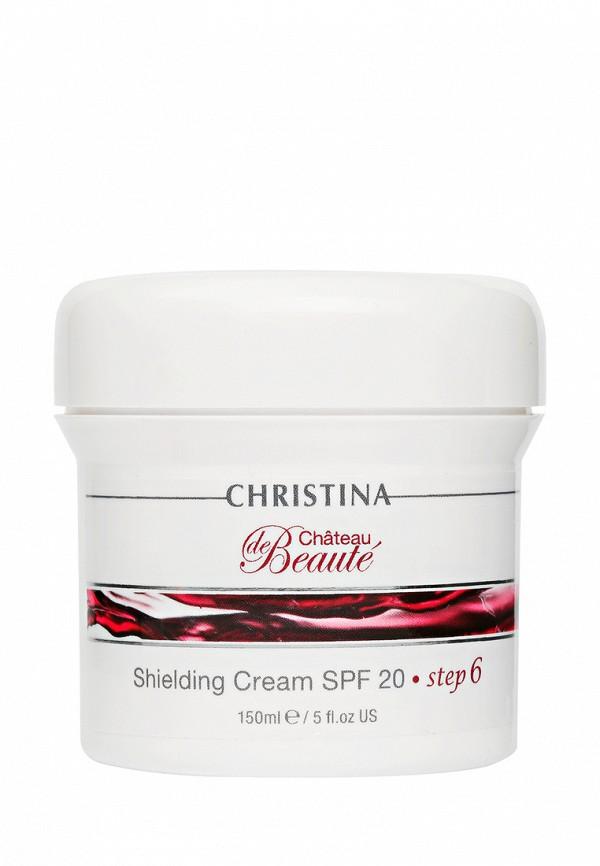 Защитный крем SPF20 Christina Chateau De Beaute - Омолаживающая линия для лица с экстрактами винограда 150 мл  недорого