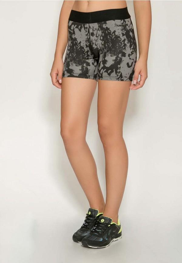 Фото 2 - женские шорты Hummel серого цвета