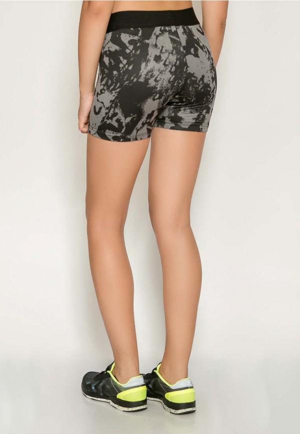 Фото 3 - женские шорты Hummel серого цвета