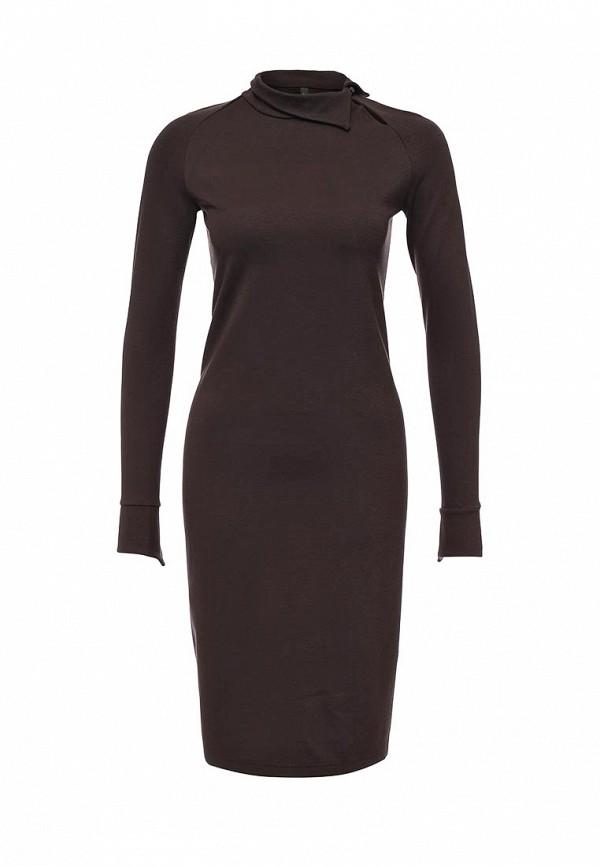 Платье Firkant. Цвет: коричневый