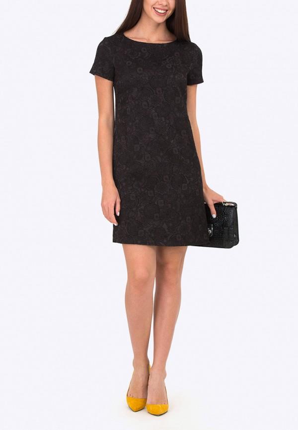 Платье черное короткое прямое