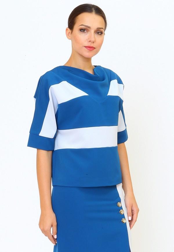 Купить Блуза MARI VERA, MP002XW0F59T, голубой, Осень-зима 2017/2018