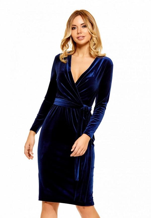 Купить Платье SoloU, MP002XW0F8MO, синий, Осень-зима 2017/2018
