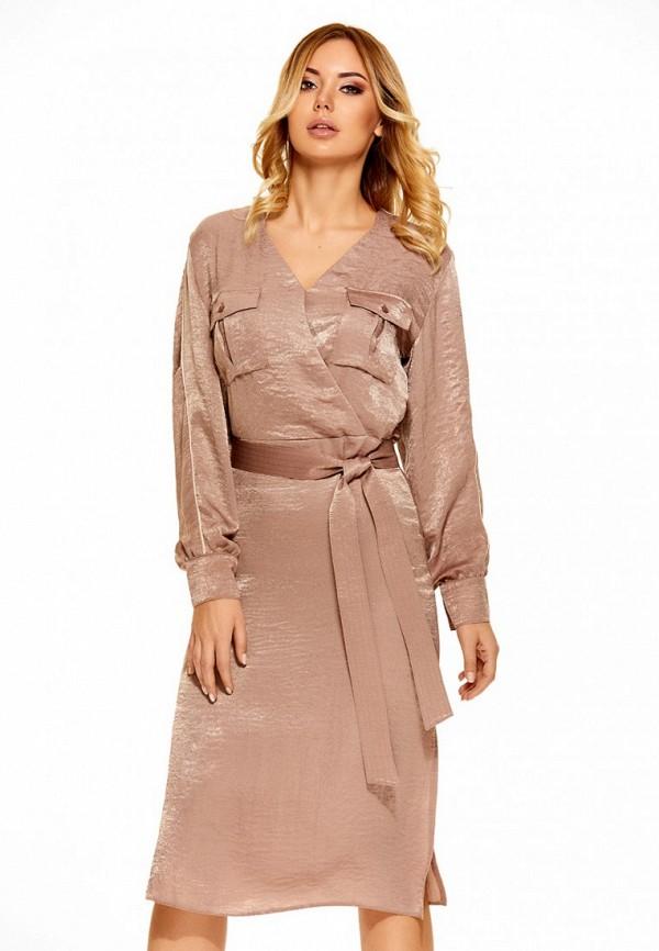 Купить Платье SoloU, MP002XW0F8MP, бежевый, Осень-зима 2017/2018