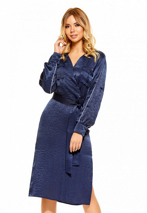 Купить Платье SoloU, MP002XW0F8MS, синий, Осень-зима 2017/2018