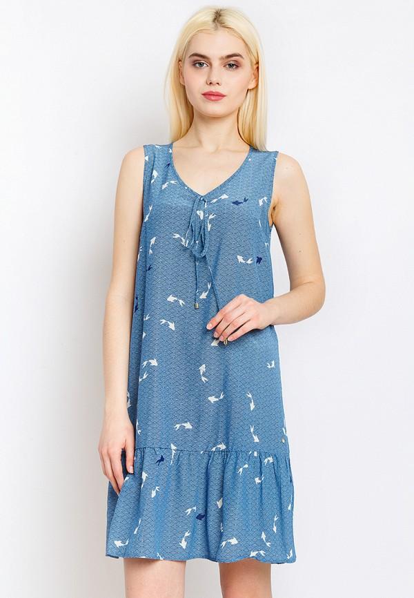 Платье Finn Flare, MP002XW0MQBW, синий, Весна-лето 2018  - купить со скидкой