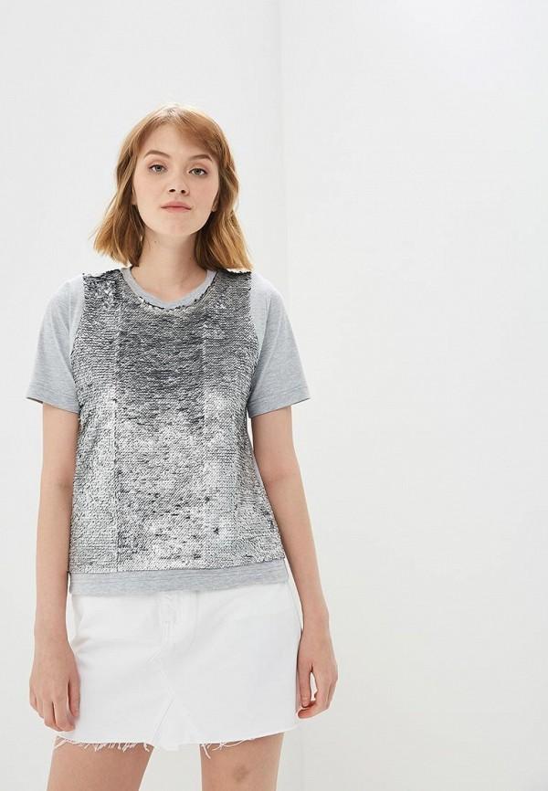 Купить Футболка Fashion.Love.Story, MP002XW0QWW9, серебряный, Весна-лето 2018