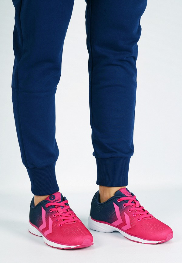 Фото 10 - женские кроссовки Hummel розового цвета