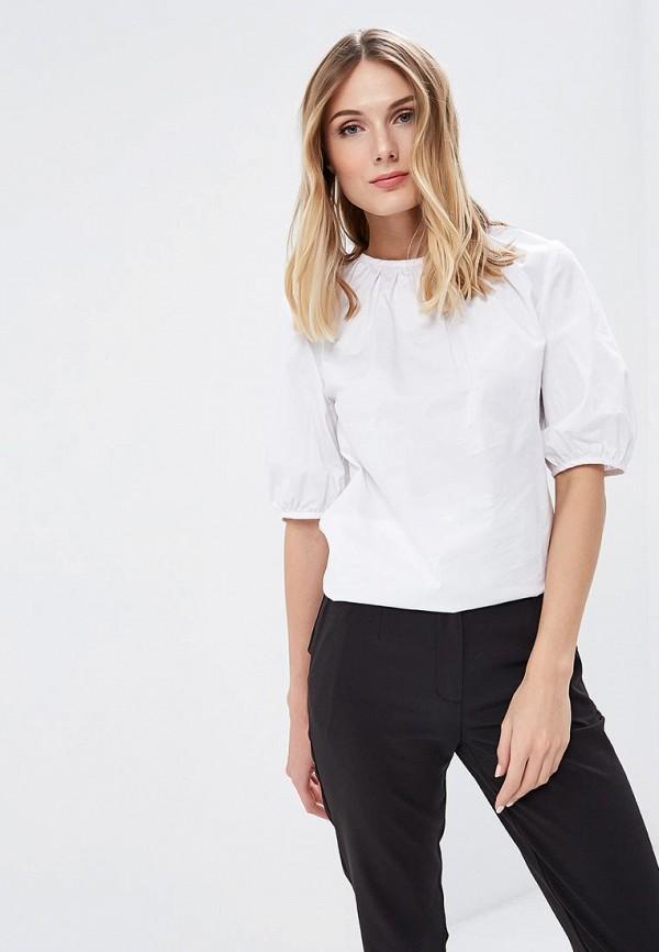 Блуза 12storeez 12storeez MP002XW13VA9 12storeez рубашка с карманами ромб белый