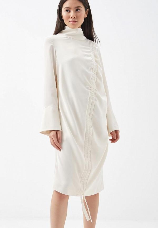 Платье 12storeez 12storeez MP002XW13VAV 12storeez рубашка с карманами ромб белый