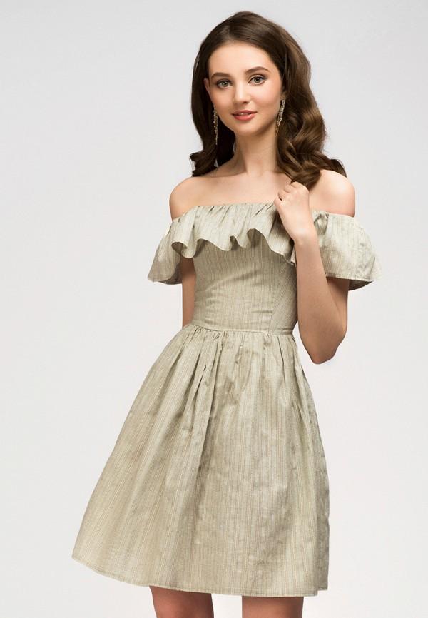 Платье 1001dress 1001dress MP002XW13WQE платье 1001 dress цвет бежевый