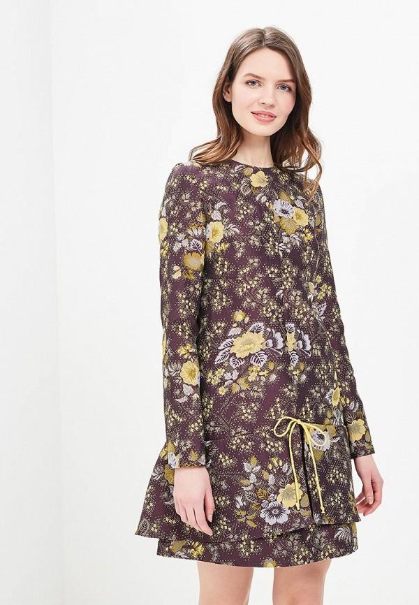 Купить Платье Galina Vasilyeva, MP002XW13ZAU, коричневый, Весна-лето 2018