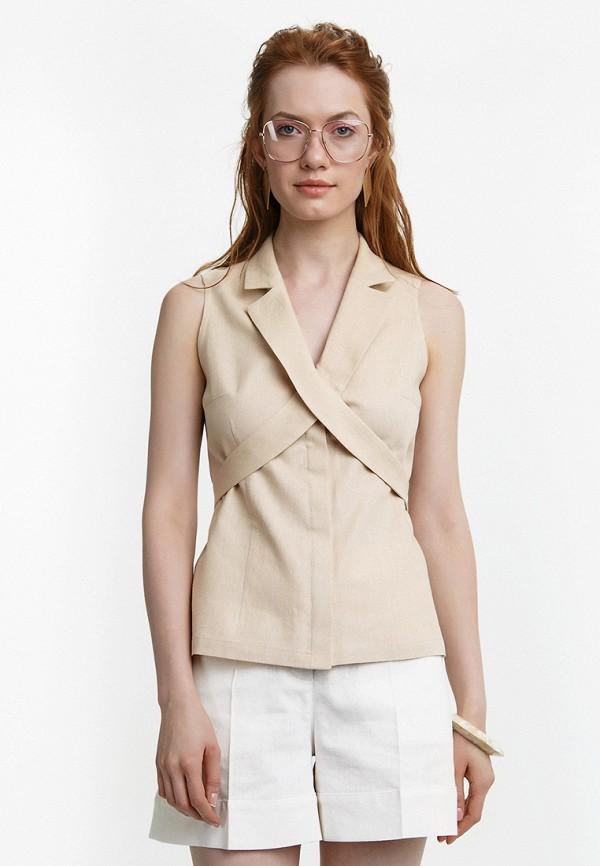 Купить Блуза Audrey Right, MP002XW15GCN, бежевый, Весна-лето 2018
