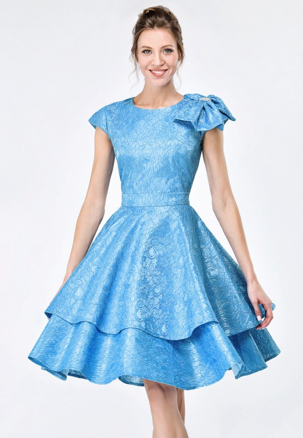 Купить Платье Alisia Fiori, Амели W, MP002XW15HOK, голубой, Весна-лето 2018