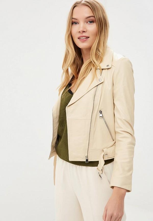 Купить Куртка кожаная La Reine Blanche, MP002XW15J5G, бежевый, Весна-лето 2018
