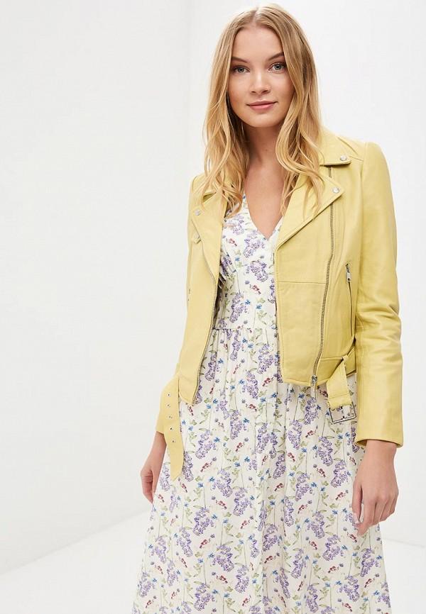 Купить Куртка кожаная La Reine Blanche, MP002XW15J5H, желтый, Весна-лето 2018