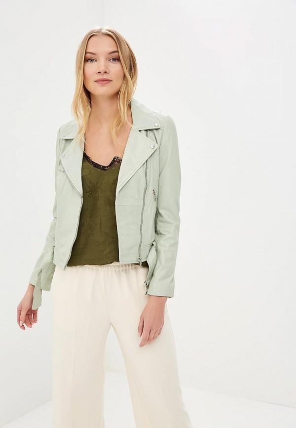 Купить Куртка кожаная La Reine Blanche, MP002XW15J5J, зеленый, Весна-лето 2018