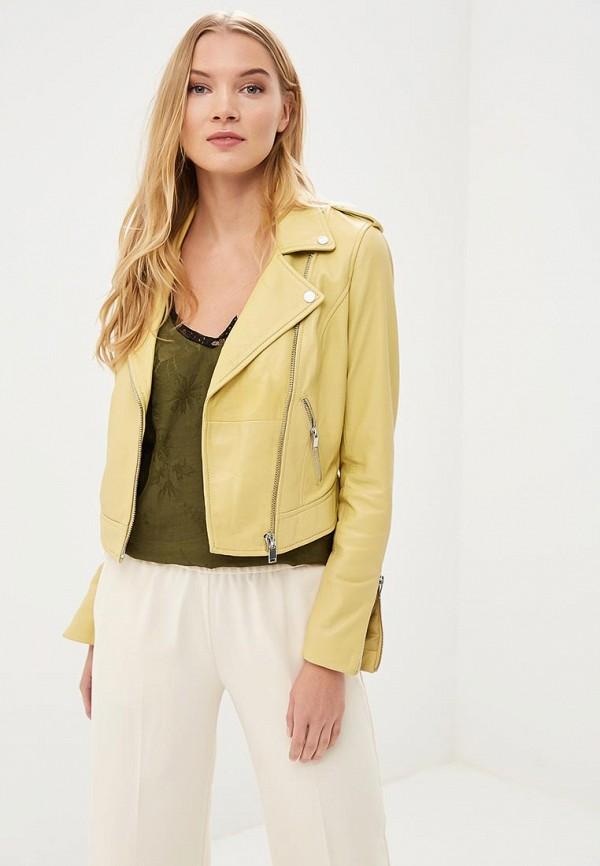 Купить Куртка кожаная La Reine Blanche, MP002XW15J5O, желтый, Весна-лето 2018