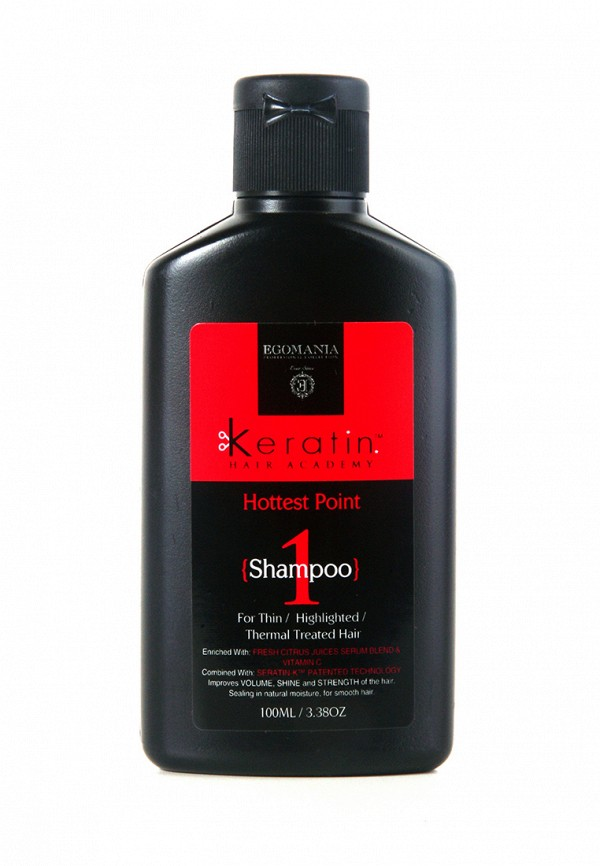 Шампунь для поврежденных волос Egomania Prof Keratin Hair Academy На пике красоты - Для тонких, мелированных, после химической завивки волос