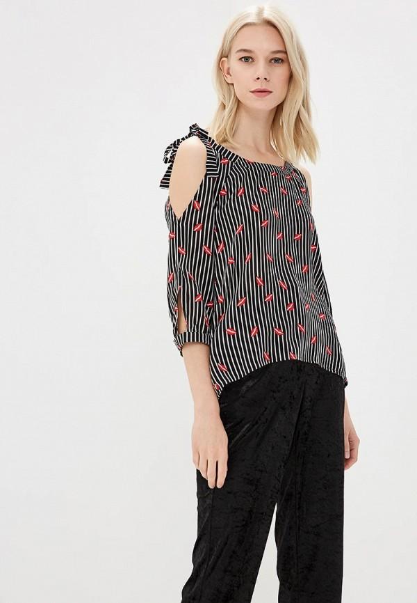 Блуза MARI VERA, MP002XW18WNO, черный, Весна-лето 2018  - купить со скидкой