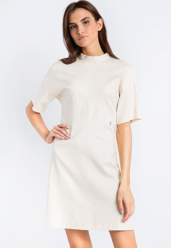 Купить Платье Finn Flare, CHAPURIN for FINN FLARE, MP002XW18YHX, бежевый, Весна-лето 2018