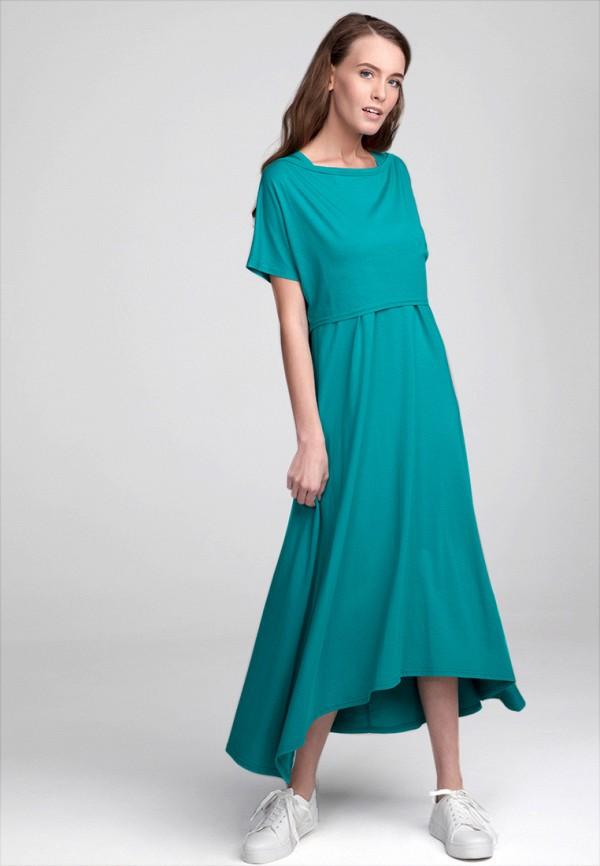 Платье Proud Mom. Цвет: бирюзовый