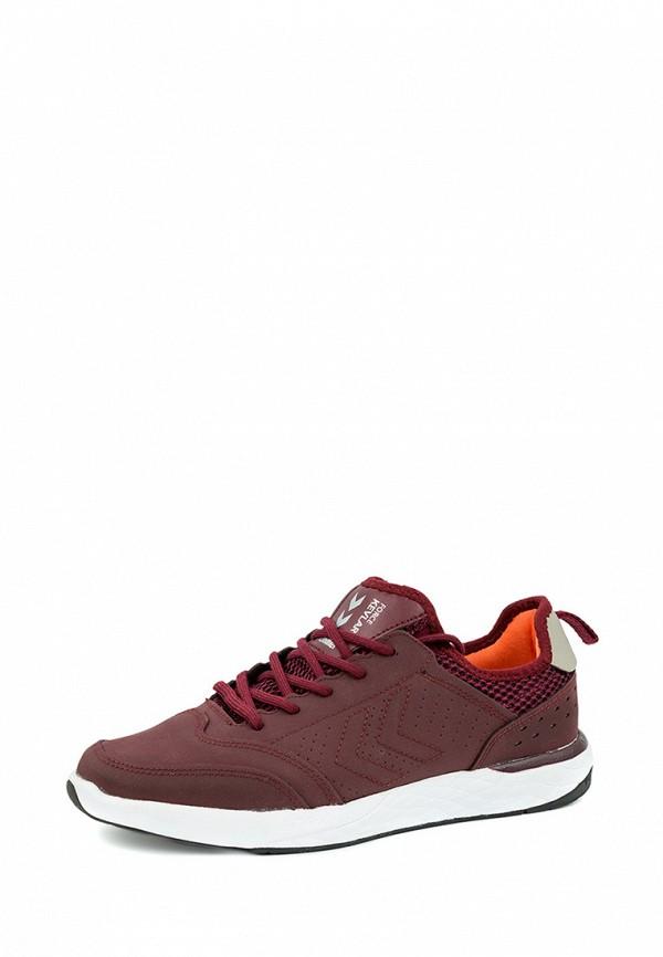 Фото - женские кроссовки Hummel бордового цвета