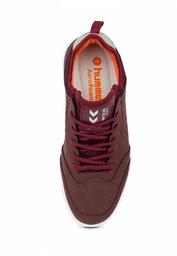 Фото 3 - женские кроссовки Hummel бордового цвета