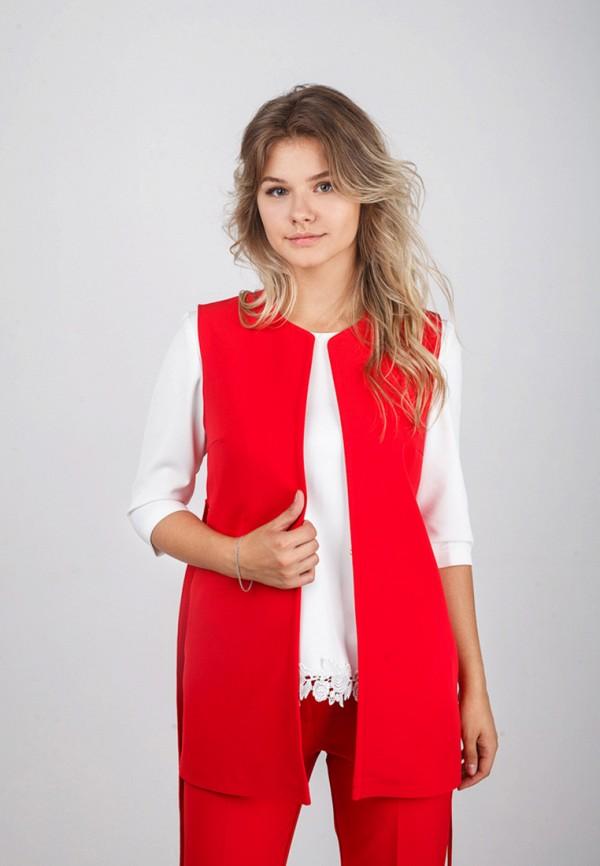 Фото - женский жилет Zubrytskaya красного цвета