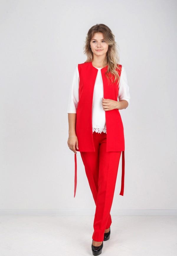 Фото 2 - женский жилет Zubrytskaya красного цвета