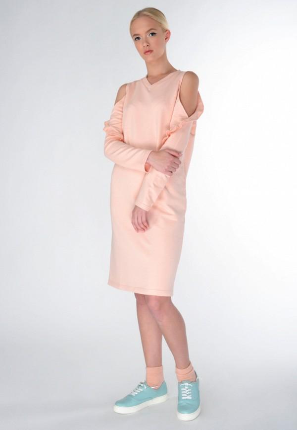 Фото 2 - женское платье Shtoyko бежевого цвета