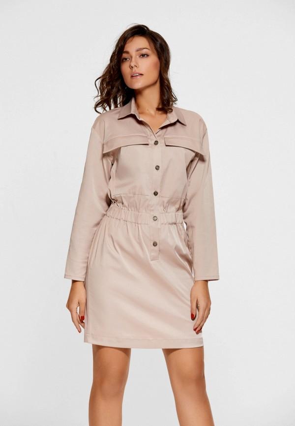 Купить Платье SoloU, MP002XW1AVCX, бежевый, Осень-зима 2017/2018
