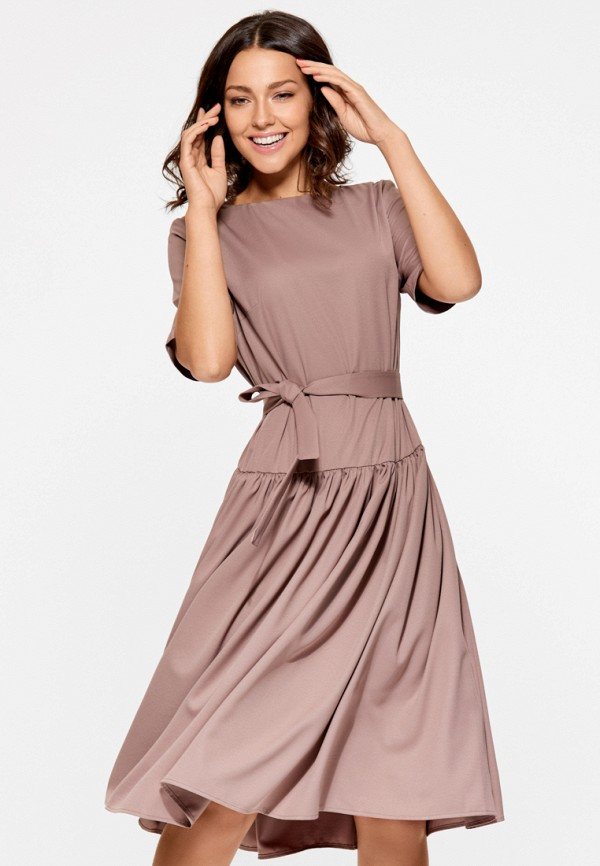 Купить Платье SoloU, MP002XW1AVDJ, бежевый, Осень-зима 2017/2018