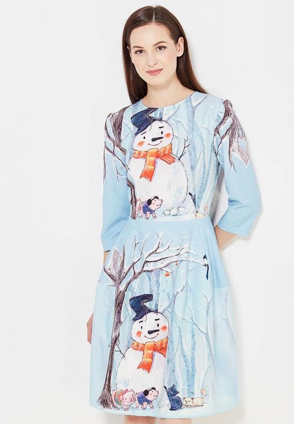 Купить Платье Мария Браславская, Dr-Bell.Raspberry, MP002XW1B2TB, голубой, Осень-зима 2017/2018