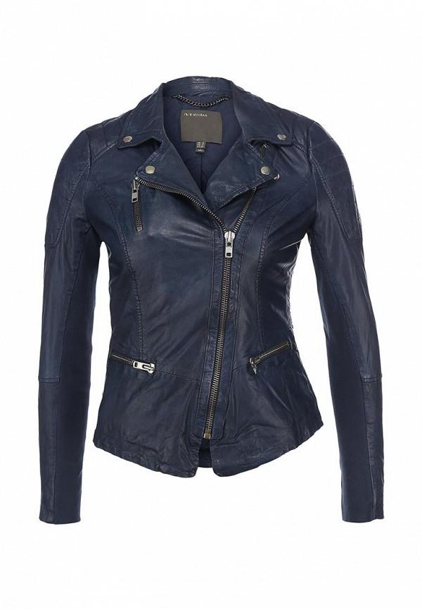 Куртка кожаная Muubaa MU007EWCRG01. Цвет: синий
