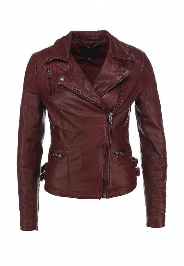 Куртка кожаная Muubaa. Цвет: бордовый