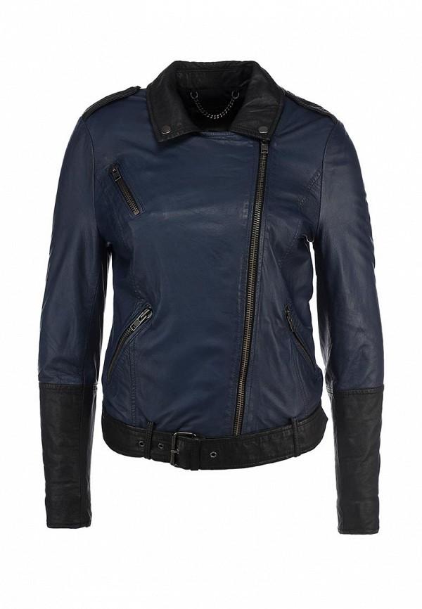 Куртка кожаная Muubaa. Цвет: синий