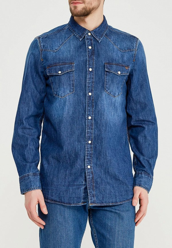 Рубашка джинсовая Mustang Mustang MU454EMABIB6 рубашка mustang 4562 4354 753