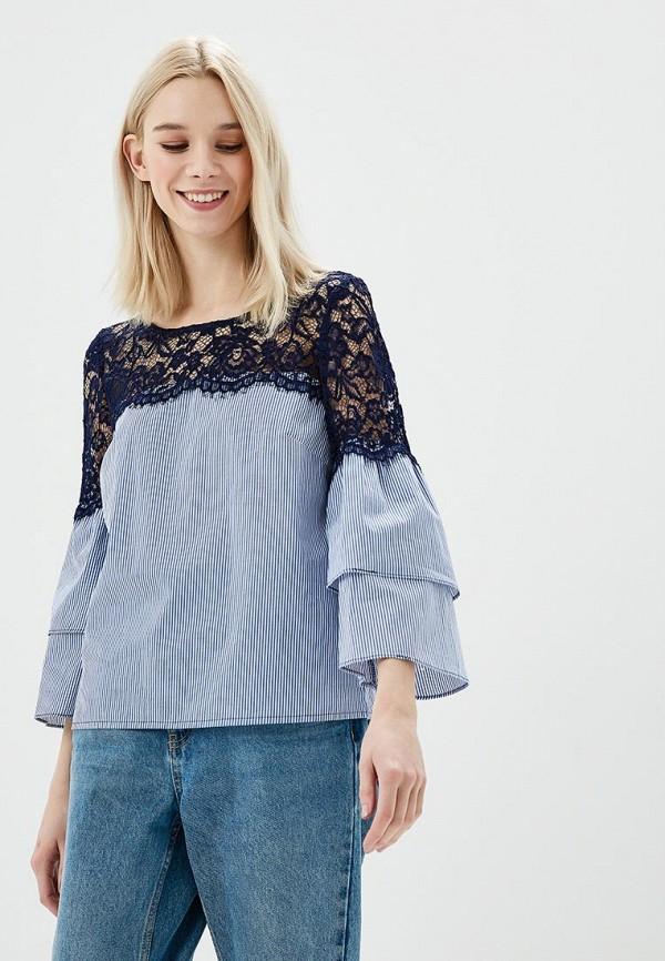 Купить Блуза Naf Naf, NA018EWZJQ36, голубой, Весна-лето 2018