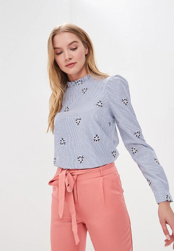 Купить Блуза Naf Naf, NA018EWZJQ37, голубой, Весна-лето 2018