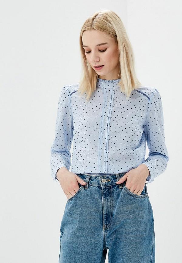 Купить Блуза Naf Naf, NA018EWZJQ41, голубой, Весна-лето 2018