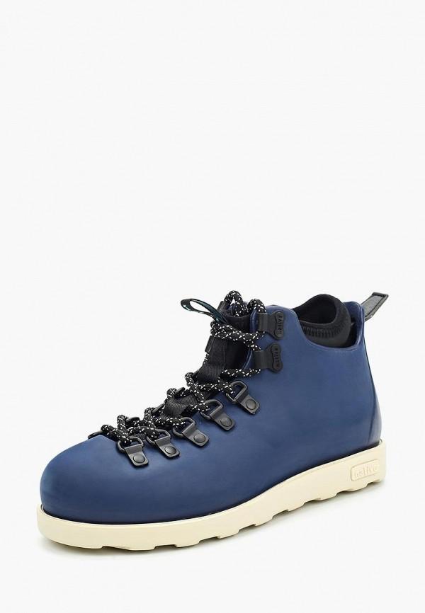 Фото - женские ботинки и полуботинки Native синего цвета