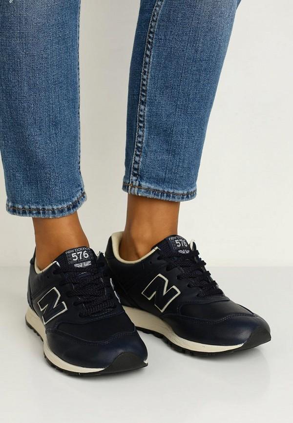 Фото 5 - женские кроссовки New Balance синего цвета
