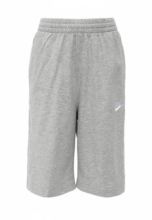 Шорты спортивные Nike - NikeШорты спортивные Nike. Цвет: серый.  Сезон: Весна-лето 2016.<br><br>Цвет: серый<br>Коллекция: Весна-лето 2016<br>Сезонность: Мульти<br>Страна-изготовитель: Малайзия<br>Размер INT: 15<br>Пол: Мужской<br>Возраст: Детский